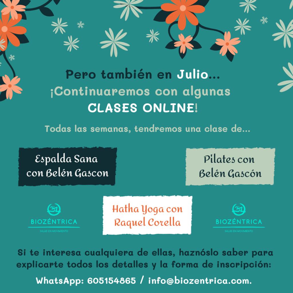 Clases online Julio BioZéntrica
